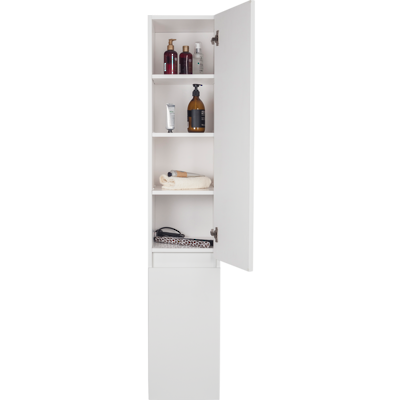 Valencia Wall Hung Tower Cabinet White
