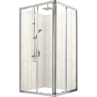 Studio Glide Square Sliding Shower Door & Return