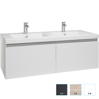 Valencia Twin Single Drawer Vanity 1200mm Double Bowl