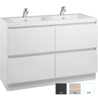 Valencia Floorstanding Vanity 1200mm Double Bowl