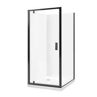 Valencia Elite Black Square Corner Shower