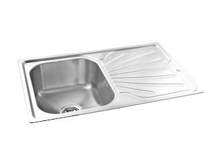 Clip Kitchen Sink Single Bowl