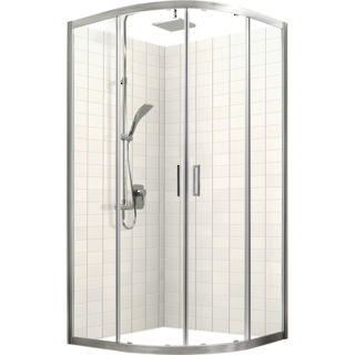 Studio Glide Round Sliding Shower Door & Return