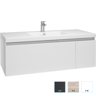 Valencia Single Drawer and Cupboard Vanity 1200mm Single Bowl