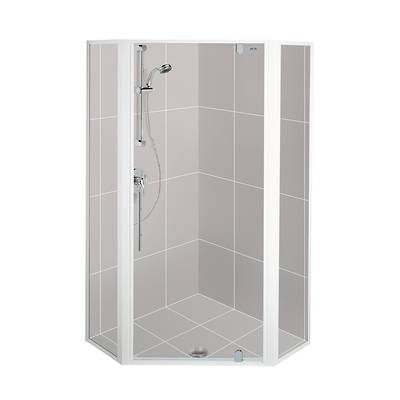 Valencia Angle Shower Door & Return