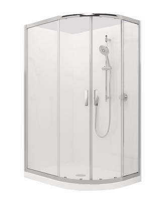 Valencia Elite Round-sliding Shower (1200mm x 900mm)