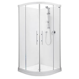 Valencia Round Sliding Shower 900x900mm with centre waste
