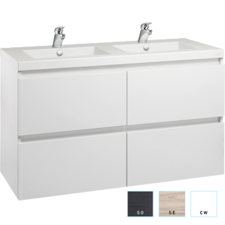 Valencia Wall-hung Vanity 1200mm Double Bowl