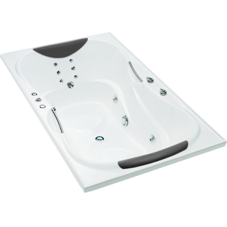 Evora Hydrotherapy Massage Rectangular Spa Bath 2 Person