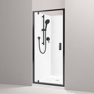 Valencia Elite Black Alcove Shower
