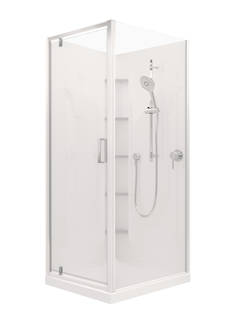 Valencia Elite Corner Pivot Shower (900x750mm)